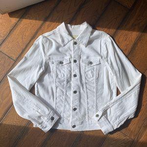 AG thin white Jean jacket